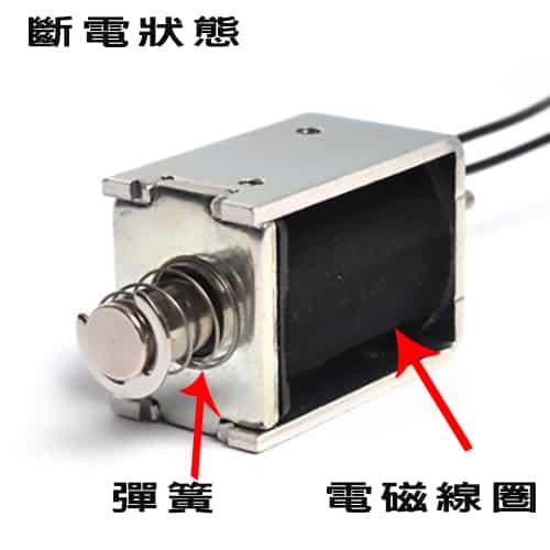 保險箱電磁閥-斷電狀態